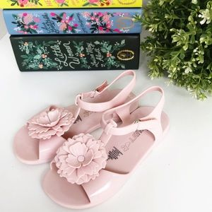 OLD NAVY Pink Flower Velcro Jelly Sandals